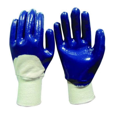 HWSCG2501 Cotton jersey liner, knitted wrist with 3/4 Nitrile coating
