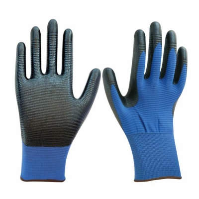 HWSCG2032 Nitrile coated gloves, with 13G dimple Nylon liner