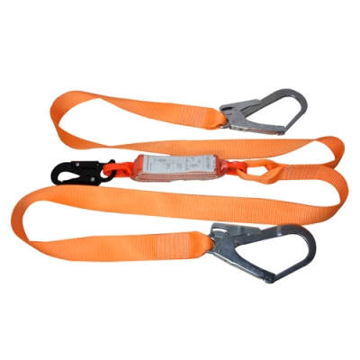 HWZLD1223 Shock-Absorbing Lanyard with double big snap hooks